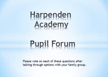 Harpenden academy pupil forum pic