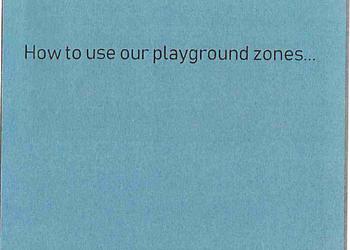 Playground zones