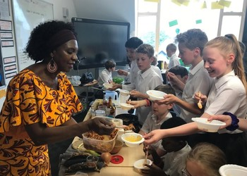 Wellbeing Week, Patti, Adding Spice to our Year 6 Dishes, June 2019