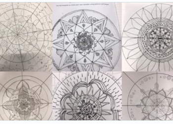 Mandala Patterns in Year 5 Art
