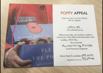 Poppy Appeal - we raised £394