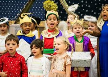 'Whoops-a-Daisy Angel' Reception Nativity