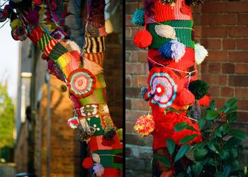 Yarn Bombing Christmas Project